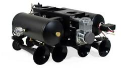 Hornblasters Conductorand039s Special 240 Train Horn Kit W/ Dual Tank Spare Tire Kit