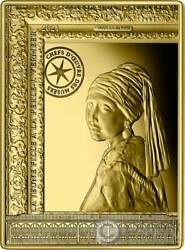 Girl With A Pearl Earring Vermeer Gold Coin 50€ Euro France 2021