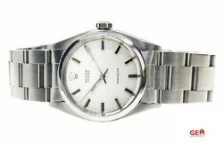 Vintage Rolex 1970 Oyster Precision 6426 34mm Silver Dial Ss Wrist Watch