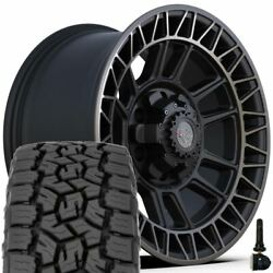 17 4play 4ps12 Wheels And 265/70r17 Toyo Open Country Set Fits Chevy Gmc Ford