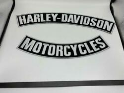 Harley Davidson Motorcycles Black And White Large Patches New Usused Ships Free