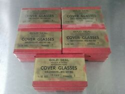 Lot 10 Qty. Gold Seal Microscope Cover Glasses