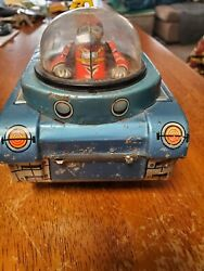 Vintage Japan Mt-18 Space Tank Tin Toy Battery Operated Circa 1960