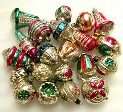 21 Rare Vintage Russian Glass Christmas Ornaments Xmas Tree Decorations Old Set