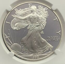 1999-p Proof American Silver Eagle Ngc Pf70 Ultra Cameo