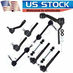 10pcs Front Rear Sway Bar Links Pitman Arm Idler Arm Fits 95-97 Lincoln Town Car