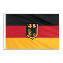 Global Flags Unlimited 201887f Germany Indoor Nylon Flag With Eagle 5'x8' With