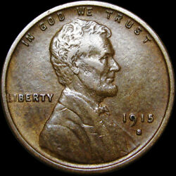 1915-s Lincoln Cent Wheat Penny ---- Stunning L@@k ---- R888