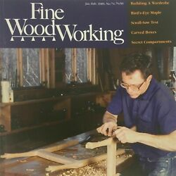 1989 Fine Woodworking Magazine 74 Carved Boxes Secret Compartments Scroll-saw