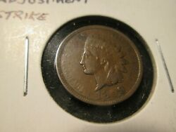 1899 Indian Cent Die Adjustment High Grade Unique And Rare Oo8
