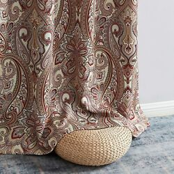 Hlc.me Paris Paisley Decorative Print Damask Pattern Thermal Insulated Blackout
