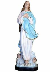 Virgin Mary Assumption By Murillo Fiberglass Statues Cm 130 With Glass Eyes