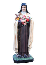 Saint Therese Of Lisieux Fiberglass Statues Cm 160 With Glass Eyes