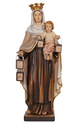 Our Lady Of Mount Carmel Statue Wood Carved
