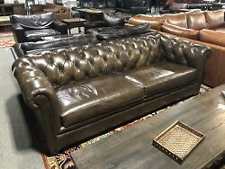 Pottery Barn Chesterfield Tufted Leather Sofa