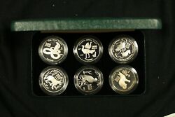 1999 Turkmenistan, Endangered Animals. 6 Coin Silver Proof Collection.