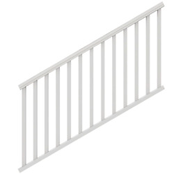 Traditional White Polycomposite Stair Rail Kit Without Brackets House Accessory