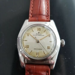 Hommes Rolex Oyster Perpetual 1940s Ref 2940 32mm Automatique Vintage Ma183brn