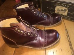 Rrl Bowery Brown Cherry Boots Mens 13 Made In Usa Horween Leather