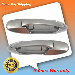 For 1b2 Antique Sage Pearl Toyota Tundra Sequoia Rear Pair Outside Door Handle