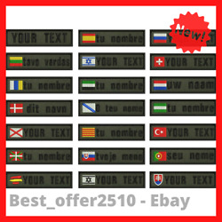 Custom Name Patches Tags Personalized Iron On Hook Backing Embroidered Military
