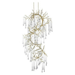 Cwi Lighting 1094p26-12-620 12 Light Chandelier With Gold Leaf Finish