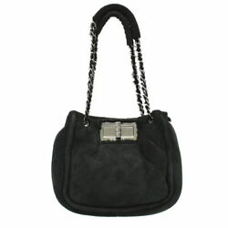 The Real Thing 2.55 Matelasse Mouton Chain Shoulder Bag Tote Suede Razor
