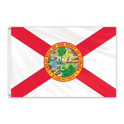 Global Flags Unlimited 200188 Florida Outdoor Nylon Flag 12'x18'