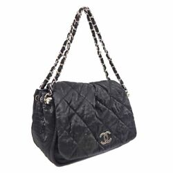 Matelasse Quilting 2way Chain Shoulder Bag Women And039s Coated Canvas Black