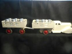 Marx Meadowbrook Dairy Truck And Trailer
