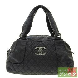 Secondhand Quilted Boston Tote Bag 13th Unit Razor Black Women 's