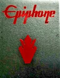 Epiphone Guitar Headstock 1 Logo And 2 Crowns, Die-cut Metallized Decal, Oem Size