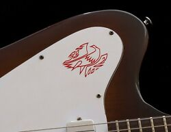 Gibson Firebird Guitar Headstock Vinyl Decal Sticker Logo, Oem Size And Color, Red