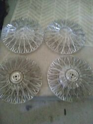 Original 1950's Accessory Wire Wheel Covers Hubcaps Chevrolet Buick Ford Dodge