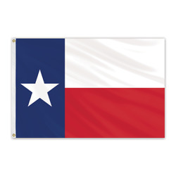 Global Flags Unlimited 201027 Texas Outdoor Sewn Poly Max Flag 15and039x25and039