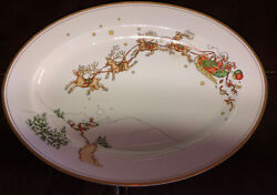 Fitz And Floyd St. Nicholas Christmas Serving Platter Plate 14 1/4andrdquo