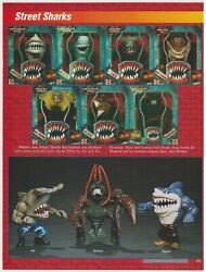 Street Sharks Action Figures - Rare Vintage 90and039s Toys Print Ad Advertisement B