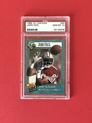 💥jerry Rice Sports Illustrated For Kids Sf 49ers Nfl🏈psa 10 Gem Mint 1 Of 5💥