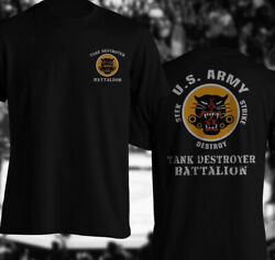 Tank Battalion Destroyer Us Army Word War Ii T-shirt Wwii Division Panther Shirt
