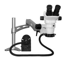 Scienscope Sz-pk3-an Ssz Stereo Zoom Microscope With Fiber-optic Led On