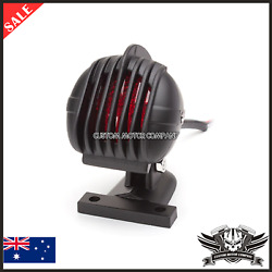 Black Grill Motorcycle Led Brake Stop Tail Light Retro Cafe Racer Project Custom