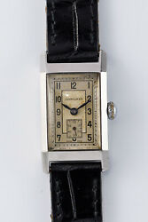 Longines Small Second 248 Rectangular Manual Vintage Watch 1940and039s Overhauled