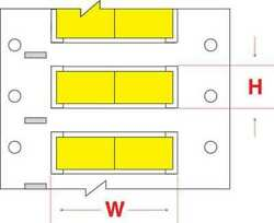 Brady Ps-250-150-yl-2 Write On Yellow Wire Marker Sleeves Permasleever