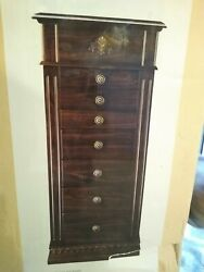 Monet Jewelry Armoire, Chestnut, Lift-up Mirror, 7 Drawers, Msrp 1,000