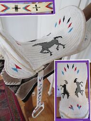 Incredible Fully Beaded Saddle Beaded Horse Pictorial Sioux Rodeo Clothing