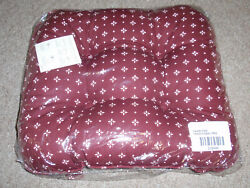 Longaberger Chair Pad In Traditional Red Fabric, New