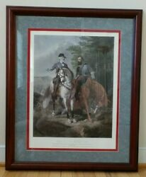 The Last Meeting Robert E Lee Stonewall Jackson Framed Print 27 X 33 By Julio