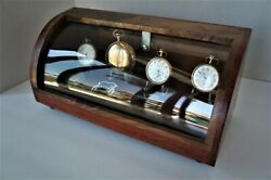 Curved glass display case pocket watch jewelry collectibles