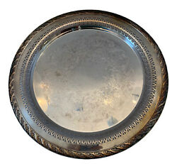 Wm Rogers And Son Spring Flower 2070 12 1/4 Serving Platter Perforated Silverplat