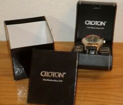 Croton Roulette Watch Menandrsquos Cn307038 New In Box Never Worn Led Analog Box Manual